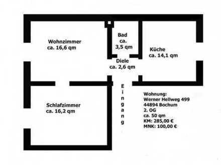 Schöne, 2,5-Zimmer-Altbau-Wohnung zur Miete in Bochum