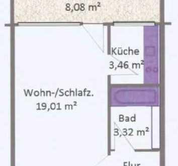 Sanierte 1,5-Zimmer-Wohnung mit Balkon und Einbauküche in Laim, München