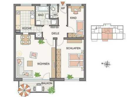 Erstbezug nach Renovierung, 3-Zimmerwohnung mit Komfortausstattung