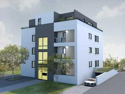 Stadtvilla, Erstbezug mit EBK, Klima, zwei Balkone:exklusive 2-Zimmerwohnung in Gartenstadt mit TG