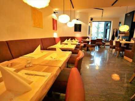 1A-Lage: Restaurant in der Darmstädter Innenstadt mit großem Außenbereich