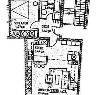 25_EI6134 Wunderschöne, lichtdurchflutete 2,5-Zi.-Galeriewohnung mit Balkon zur Kapitalanlage / R...