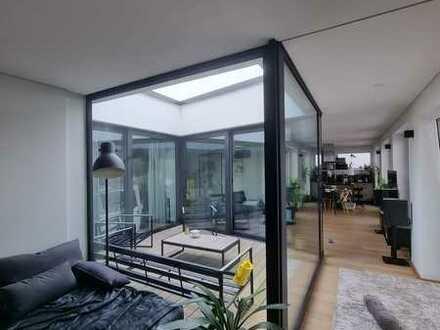 Penthouse mit Sauna und Atrium in Krumbach