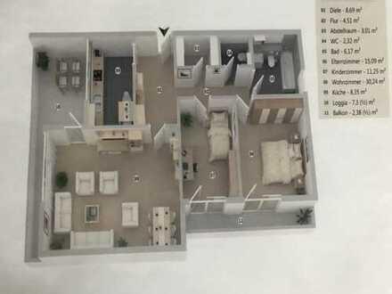 Stilvolle 3-Zimmer-Wohnung mit Balkon und EBK in Unterhaching