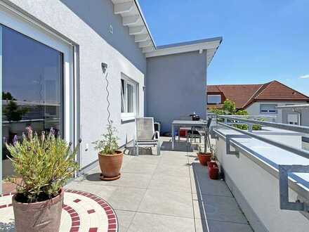 Sonniges Penthouse mit großer Dachterrasse in der Nähe des Blausees in Altlußheim