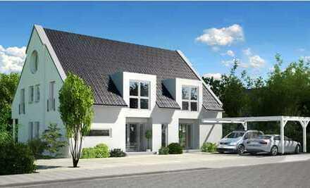 Schlüsselfertige Doppelhaushälfte + Garage (130m²/individuell planbar) in moderner Architektur
