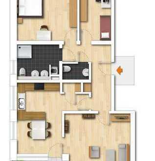 Wohnen in guter Nachbarschaft mitten in Heiden: Komfortwohnung ideal für Singles oder Paare!