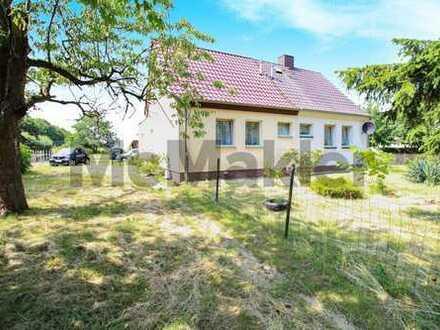 Familienidyll im Grünen: Ruhig gelegene 3-Zi.-DHH auf etwa 1.000 m² Grundstück