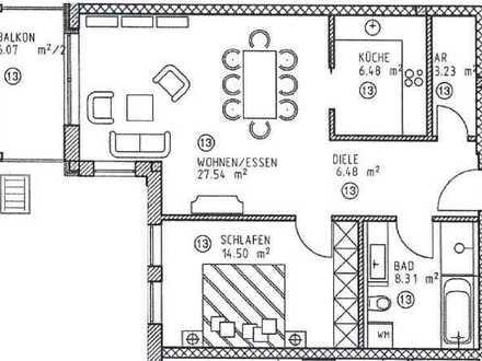 69 qm Erstbezug: exklusive 2-Zimmer-Wohnung mit Süd-West-Balkon in Kempten
