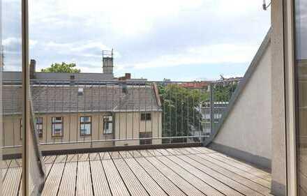 Wohnen über den Dächern von Berlin - Dachgeschoss-Maisonettewohnung mit Süd-Terrasse in Ruhiglage