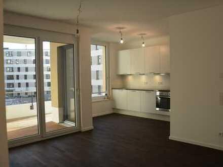 Sehr helle und großzügige 2 Zimmer-Komfortwohnung mit großem Südwestbalkon mit Rheinblick im Neubau