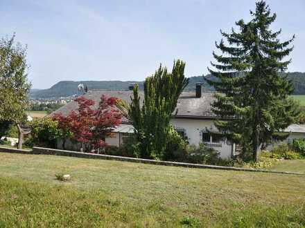 Einfamilienhaus mit herrlichem Garten und Blick auf Rheintal.
