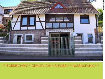SANIERUNGSBEDÜRFTIGES Wohnhaus mit Blick über Sinntal