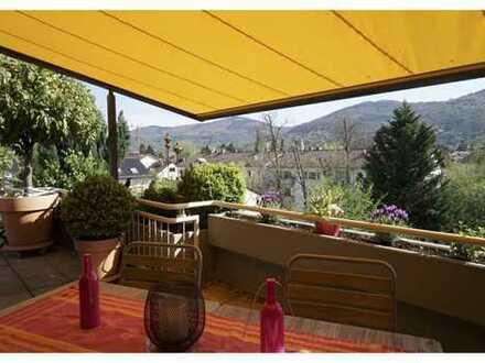 Helle 4 Zi Penthouse-Wohnung in HD-Neuenheim mit großer Terrasse und Weitblick auf Schloß & Berge
