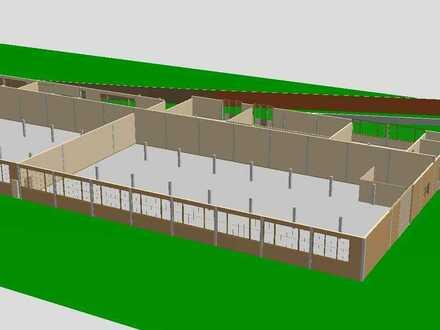 Industrie-/Lagerhalle 900 m² mit Büro + Hof