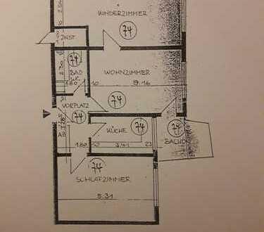 Gepflegte 3-Zimmer-Wohnung mit Balkon in Stuttgart