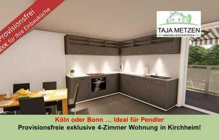 Köln oder Bonn Ideal für Pendler Provisionsfreie exklusive 4-Zimmer Wohnung in Kirchheim