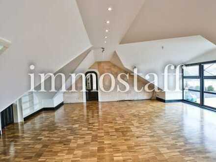 DESIGN-MAISONETTE! Weitläufig & edel ausgestattetes Penthouse mit offener Küche, Dachterrasse etc.!
