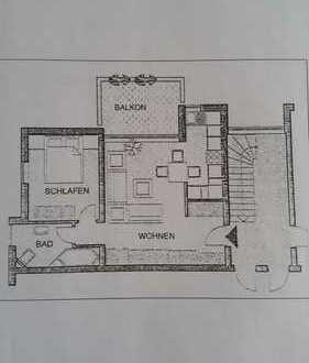 Gepflegte 2-Zimmer-Wohnung mit Balkon und Einbauküche in Bruchsal