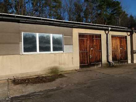 125 m² Lagerhalle Garage Gewerbehalle Werkstatt am Rande von Spremberg