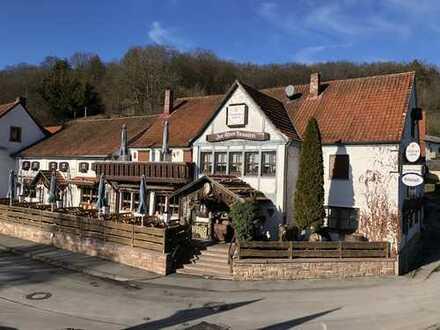 Attraktiver Landgasthof und Ausflugslokal an der fränkischen Saale zu verkaufen/verpachten