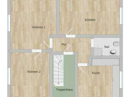 Vollständig renovierte 3-Raum-Hochparterre-Wohnung mit Einbauküche in Thalfang