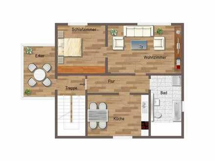 Hochwertige 2 Raum Wohnung Ilmenau OT Langewiesen, Balkon, Stellplatz, Einbauküche