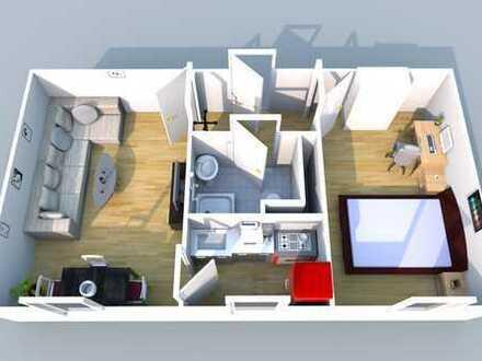 **City-Apartment* 2 Zimmer-Wohnung möbliert inkl. W-Lan & TV & Strom
