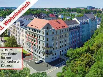 Eigentumswohnung in Chemnitz- Altendorf mit XXL Wohnbereich und großzügigem Balkon