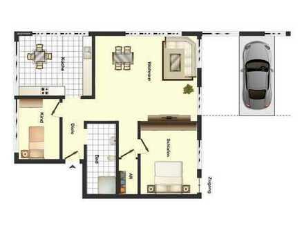 Barrierefreie 3/4 Zimmer Wohnung im Erdgeschoss in Recklinghausen