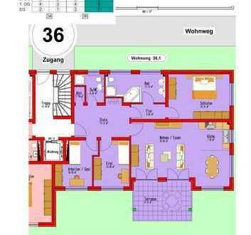 Großzügige Eigentumswohnung mit eigenem Garten, Fußbodenheizung, elektr. Rollläden, Aufzug uvm