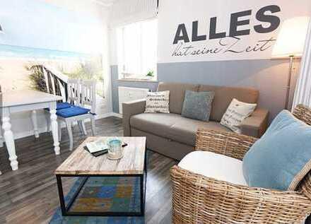 250 Meter zur Ostsee exklusive , modernisierte 2-Zimmer-Wohnung mit Balkon und EBK in Göhren