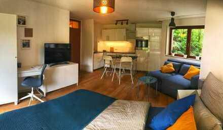 Möbliertes Apartment mit Garten und Einbauküche in Korntal, nähe S-Bahn