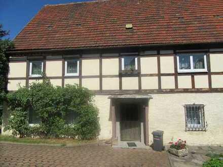 Grünhainichen, Fachwerkhaus mit Nebengeb.