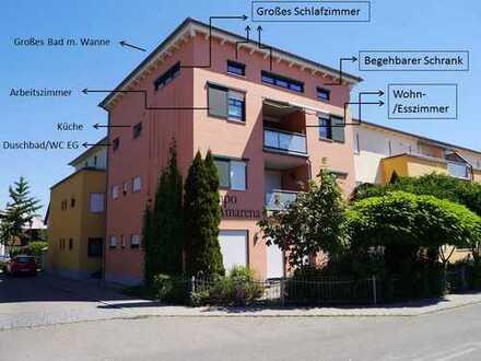 PROVISIONSFREI! Moderne Maisonette-Wohnung in Manching bei Ingolstadt mit Balkon inklusive EBK!