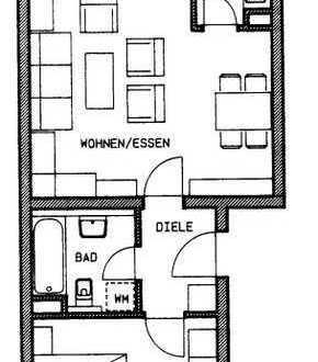 Helle gepflegte 2-Zimmer-Wohnung mit Balkon in Biberach an der Riß
