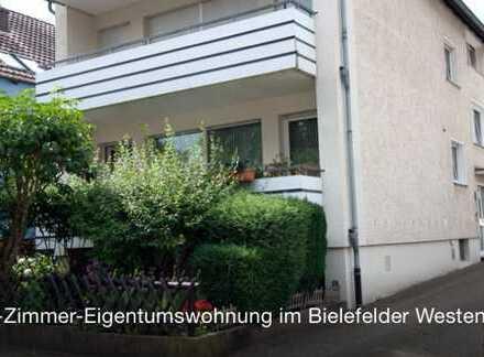 Neuwertige 3-Zimmer-Hochparterre-Wohnung mit Balkon und EBK im Bielefelder Westen (Siegfriedplatz)