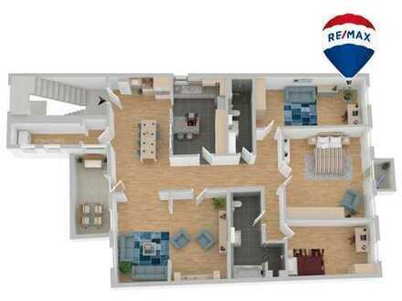 Stadtwohnung im stilvollem Ambiente auf 182 m² mit Terrasse und Loggia
