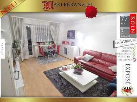 +++ NEU +++ Super Lage und mega Ausblick aus 5. von 5 Etagen; 77 m² modern sanierte 3 Zimmer; Lift