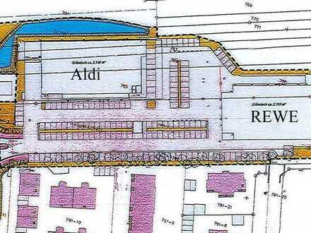 2 Lebensmittelmärkte Aldi & REWE, Neubauprojekt in Bauphase