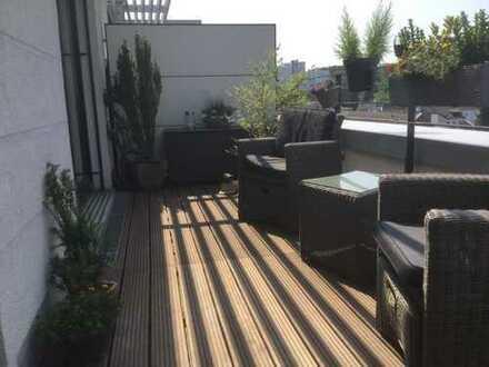 Exklusive helle 2-Zimmer Wohnung mit 2 Terrassen mit Blick auf Kölner-Dom in Frechen