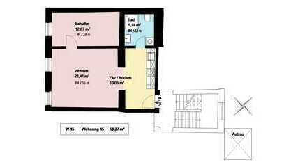 *2 Zimmer-Wohnung im trendigen Schlachthofviertel*Küche mit EBK*Keller*