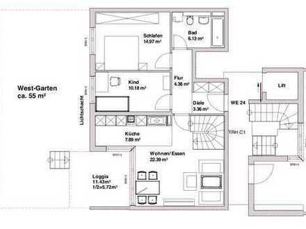 Exklusive 3-Zimmer Wohnung mit großem Hobbyraum in München Riem von privat zu vermieten