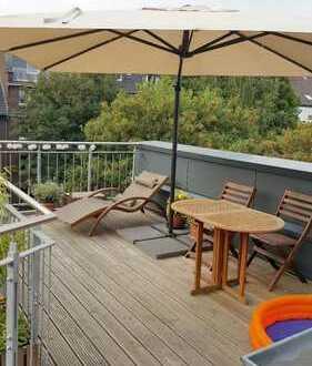 Pempelfort in Traumlage, charmante 3 Zi.-Maisonette mit Dachterrasse+moderner Einbauküche