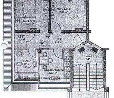 **neu sanierte 2- Raum Dachgeschosswohnung zu vermieten