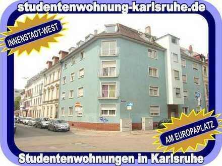 STUDIEREN IN KARLSRUHE = MÖBLIERTE STUDENTENWOHNUNG MIT BALKON - NÄHE EUROPAPLATZ UND POSTGALERIE...