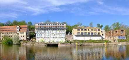 """4-Raum-Wohnung direkt an der Saale - """"Alte Mühle"""" der Cröllwitzer Actien-Papierfabrik"""