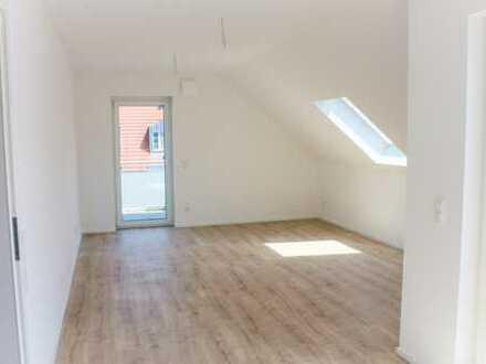 Neubau: Moderne 2-Zimmerwohnung mit sonniger Dachterrasse u. Balkon in Würzburg (Provisionsfrei)