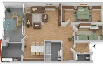TOP Wohnung in sehr guter Lage: sanierte 3-Zimmer Wohnung mit Loggia Hegelstr. 28