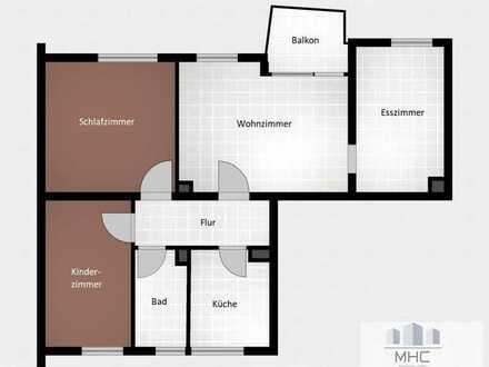 Gut geschnittene 4-Zimmer-Wohnung mit Balkon im Gmünder Südosten